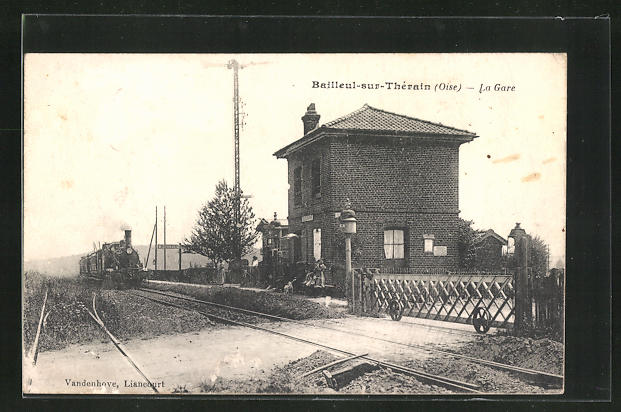 AK Bailleil-sur-Thérain, La Gare, Bahnhof 0