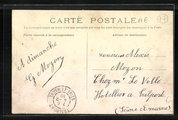 AK La Ferte-sous-Jouarre, Rue du Faubourg, Inondations du 25.01.1910 1