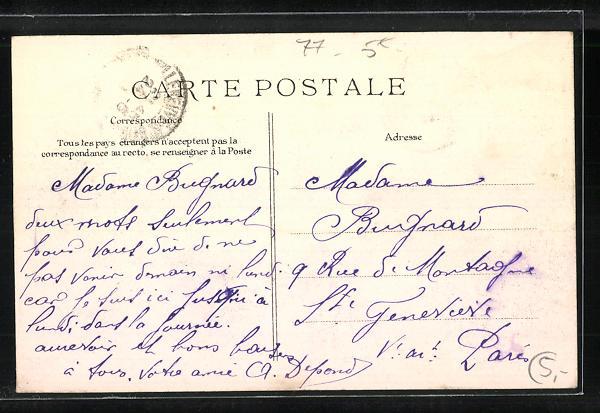 AK Villeneuve-Saint-Georges, La Route de Melun - Crue de la Seine 1910 1