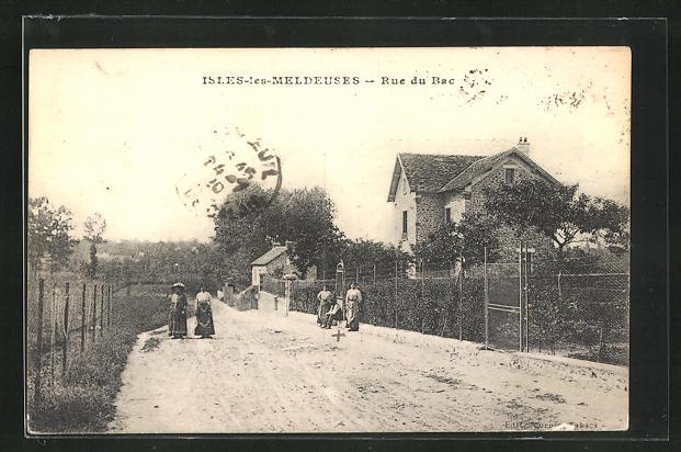 AK Isles-les-Meldeuses, Rue du Bac