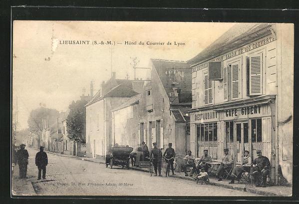 AK Lieusaint, Hotel du Courrier de Lyon