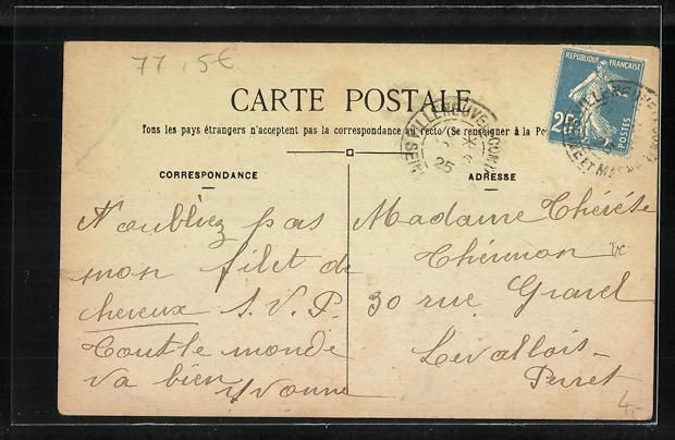 AK Villeneuve-le-Comte, Carrefour de l` Obèlsque 1