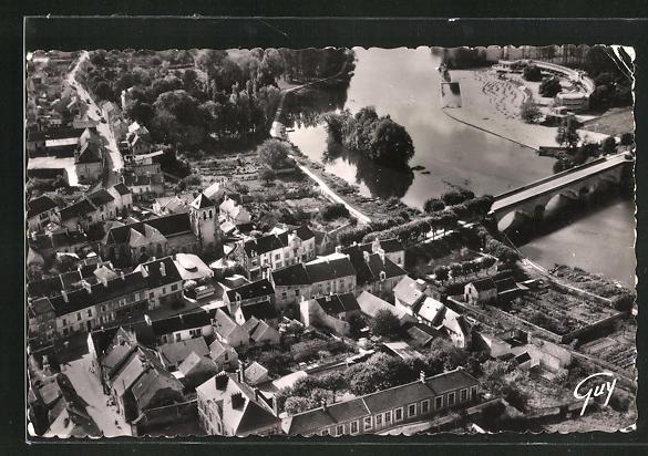 AK Meaux-Trilport, Ortsansicht vom Flugzeug aus