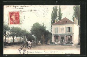 AK Guignes-Rabutin, Avenue de la Gare