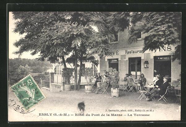 AK Esbly, Hotel du Pont de la Marne - la Terrasse 0
