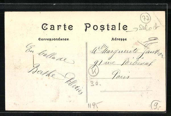 AK Esbly, Hotel du Pont de la Marne - la Terrasse 1