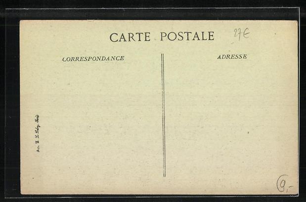 AK Saint-Aspais, Ècole - Melun, La Cour en 1916 1