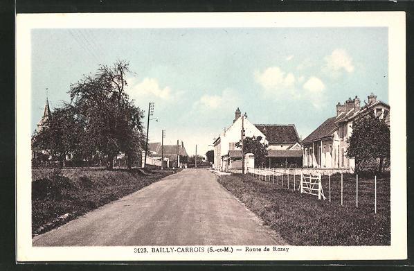 AK Bailly-Carrois, Route de Rozay, Strassenpartie 0