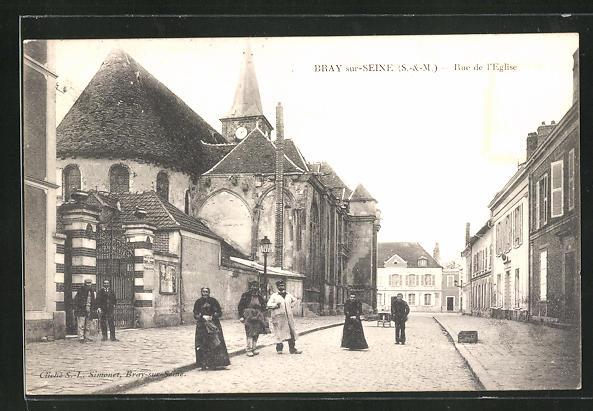 AK Bray-sur-Seine, Rue de L` Eglise 0