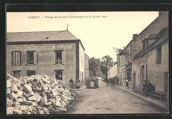 AK Lorroy, Village dètruit par la Catastrophe du 21 Janvier 1910 0