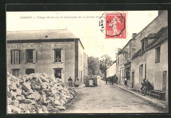 AK Lorroy, Village dètruit par la Catastrophe du 21 Janvier 1910