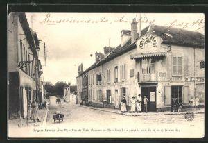 AK Guignes-Rabutin, Rue de Paris, Strassenpartie