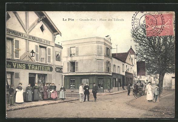 AK Le Pin, Grande-Rue, Place des Tilleuls 0