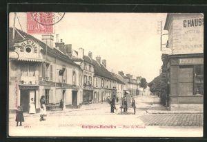 AK Guignes-Rabutin, Rue de Meaux, Strassenpartie