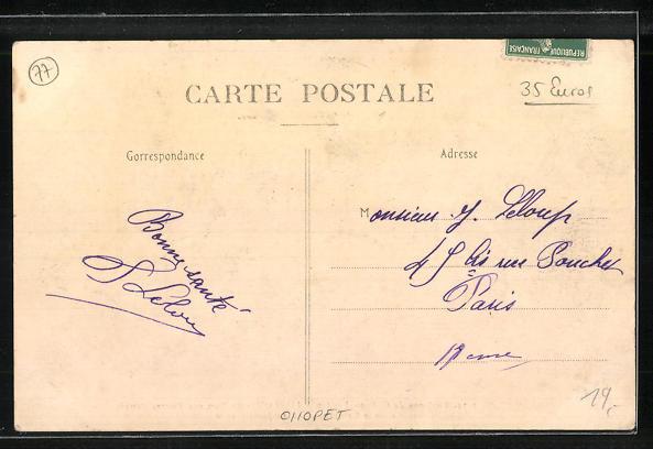 AK Lorroy, Le Port aux Pierres dètruit dans la Catastrophe du 21. Janvier 1910 1