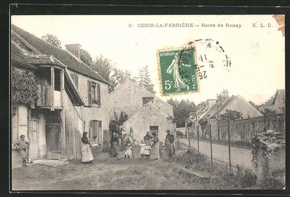 AK Ozoir-la-Ferrière, Route de Roissy 0