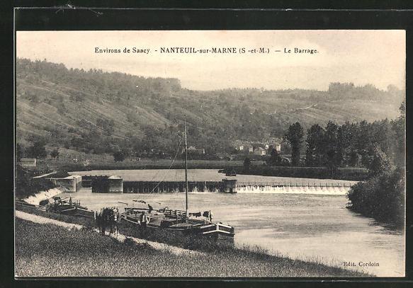 AK Nanteuil-sur-Marne, Le Barrage 0