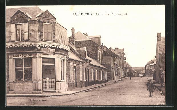 AK Le Crotoy, La Rue Carnot, Strassenpartie 0