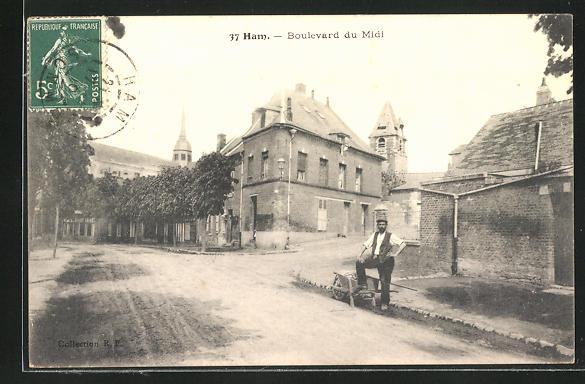 AK Ham, Boulevard du Midi, Strassenpartie 0