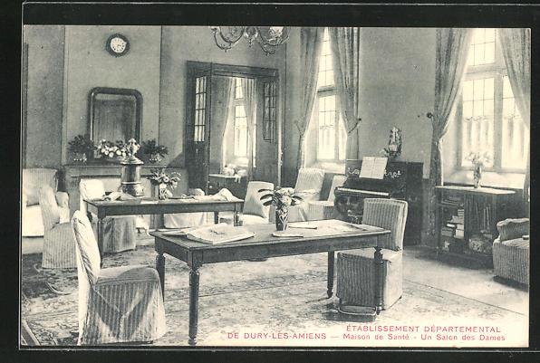 AK Dury-les-Amiens, Etablissement Departemental - Maison de Santè, Un Salon des Dames