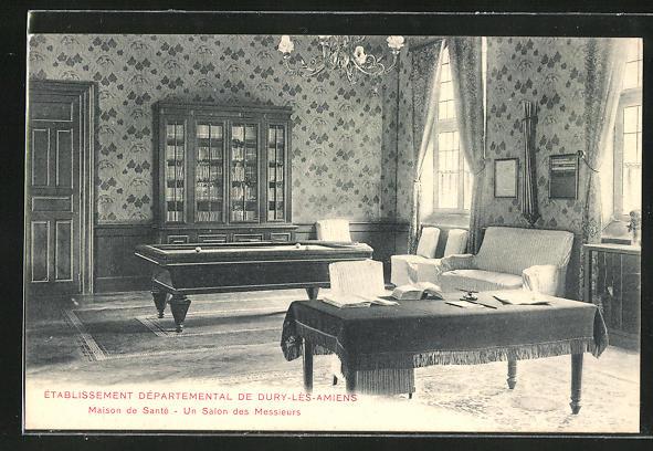 AK Dury-les-Amiens, Etablissement Departemental - Maison de Santè, Un Salon des Messieurs