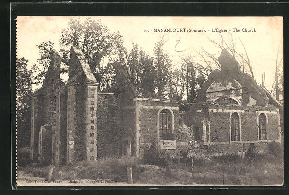 AK Manancourt, Ruines du Eglise 0