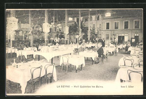 AK La Seyne, Hall Sablettes les Bains