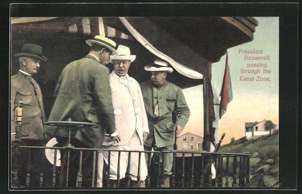 AK President of the US, Roosevelt, passing through the Canal Zone