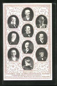 AK Senioren der Schweizerischen Naturforschenden Gesellschaft im September 1917, Portraits
