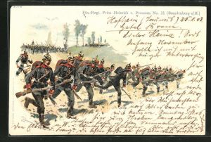 AK Füs.-Regt. Prinz Heinrich von Preussen, deutsche Soldaten stürmen zum Angriff