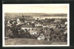 AK Kreuzlingen, Totalansicht mit Konstanz