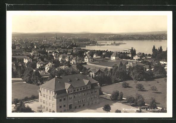 AK Kreuzlingen, Panoramablick nach Konstanz