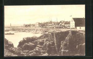 AK Allinge, Teilansicht mit Hafen