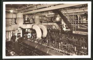 AK Passagierschiff Monte Sarmiento, Maschinenraum
