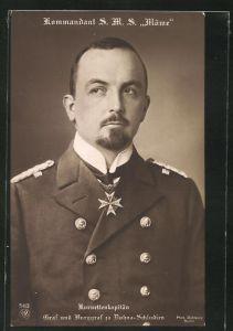 AK Korvettenkapitän Graf und Burggraf zu Dohna-Schlodien, Kommandant der S.M.S. Möwe