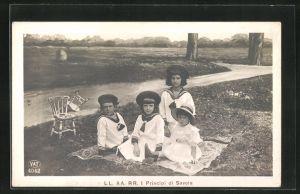 AK Principi di Savoia, Kinder des Königs von Italien