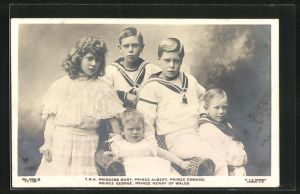 AK Princess Mary, Prince Albert, Prince Edward, Prince George und Prince Henry of Wales