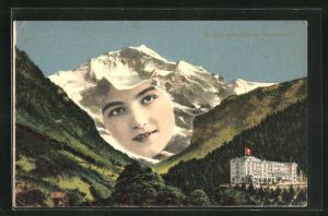 AK Berner Oberland, Berg mit Gesicht / Berggesicht, Berggesichter
