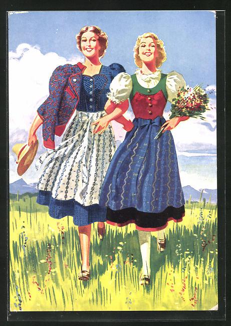 AK Wien, A. Herzmansky, Mariahilferstrasse 26-30, das Spezial-Textilhaus, Mode-Reklame