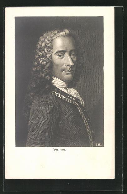 AK Portrait des Philosophen und Schriftstellers Voltaire