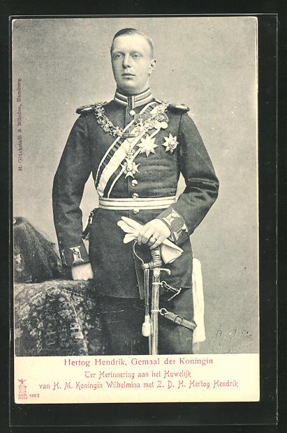AK Hertog Hendrik, Gemaal der Koningin Wilhelmina von den Niederlanden