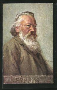 AK Der Komponist Johannes Brahms, Altersbildnis