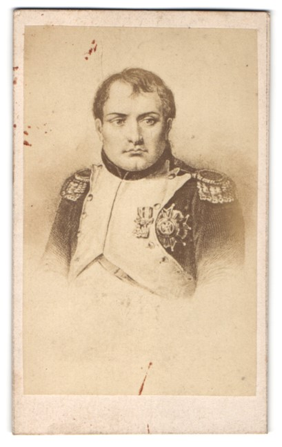 Fotografie Portrait Napoleon Bonaparte in Uniform mit Orden