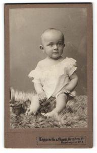 Fotografie Taggeselle & Ranft, Dresden-A, Portrait Kleinkind in Leibchen