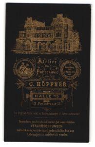 Fotografie C. Höpfner, Halle / Saale, Ansicht Halle / Saale, Foto-Atelier und Geschäftshaus Poststrasse 13