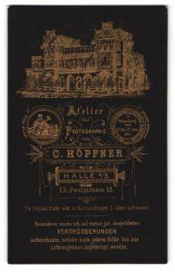 Fotografie C. Höpfner, Halle / Saale, Ansicht Halle / Saale, Foto-Atelier Poststr. 13