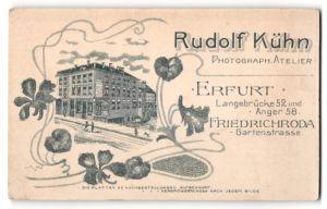 Fotografie Rudolf Kühn, Erfurt, Ansicht Erfurt, Geschäftshaus mit Atelier Langebrücke 52