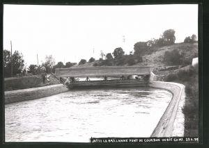 Fotografie Fotograf unbekannt, Ansicht La Brillanne, Pont De Courbon 1935, Brücken-Baustelle