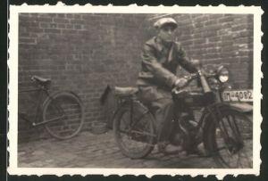 Fotografie Motorrad DKW, Krad mit Kennzeichen IM-4082