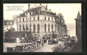 AK Erlenbach am Zürichsee, Hotel z. Goldenen Kreuz